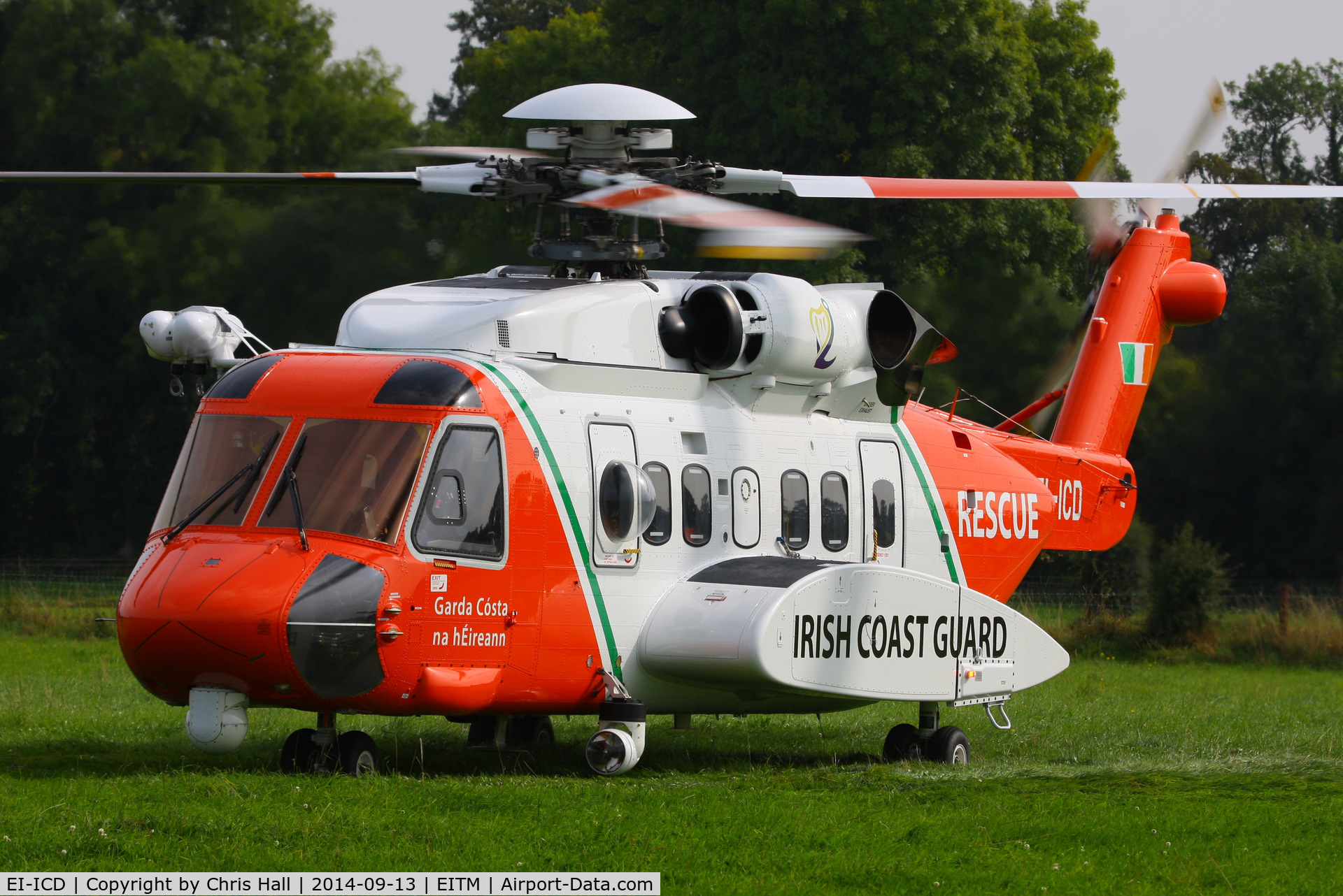 EI-ICD, 2007 Sikorsky S-92A C/N 920052, at the Trim airfield fly in, County Meath, Ireland