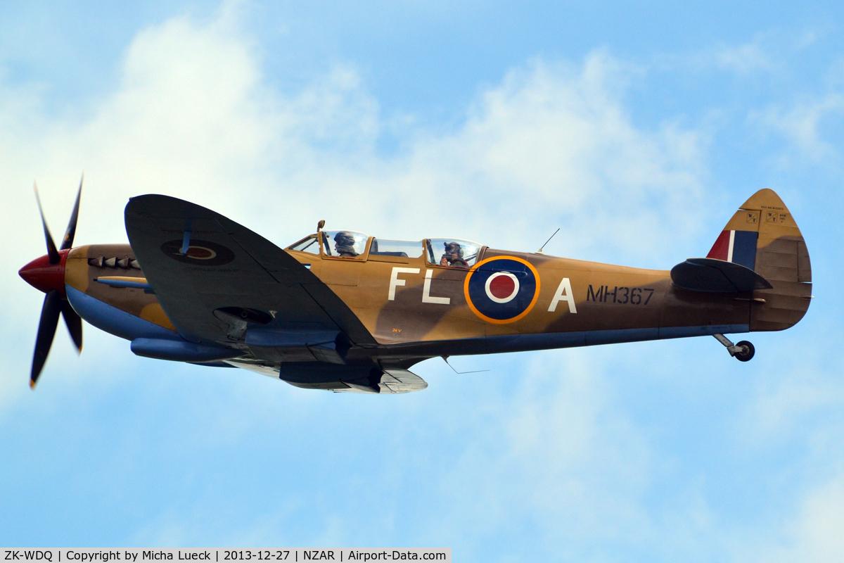 ZK-WDQ, Supermarine 509 Spitfire TR.IX C/N CBAF.5487, At Ardmore