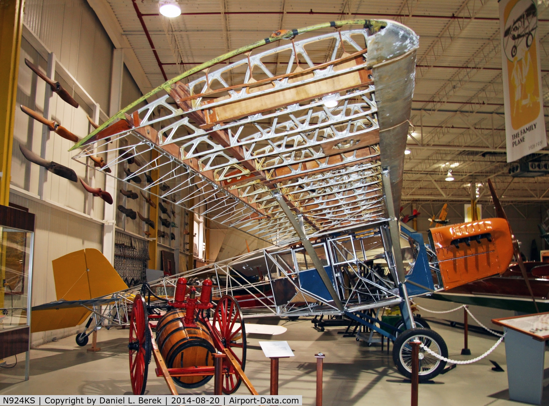 N924KS, 1927 Curtiss 50B Robin C/N 511, This 1927 original is displayed at the Glenn H. Curtiss Museum with some of the fabric removed to show off its internal framework.