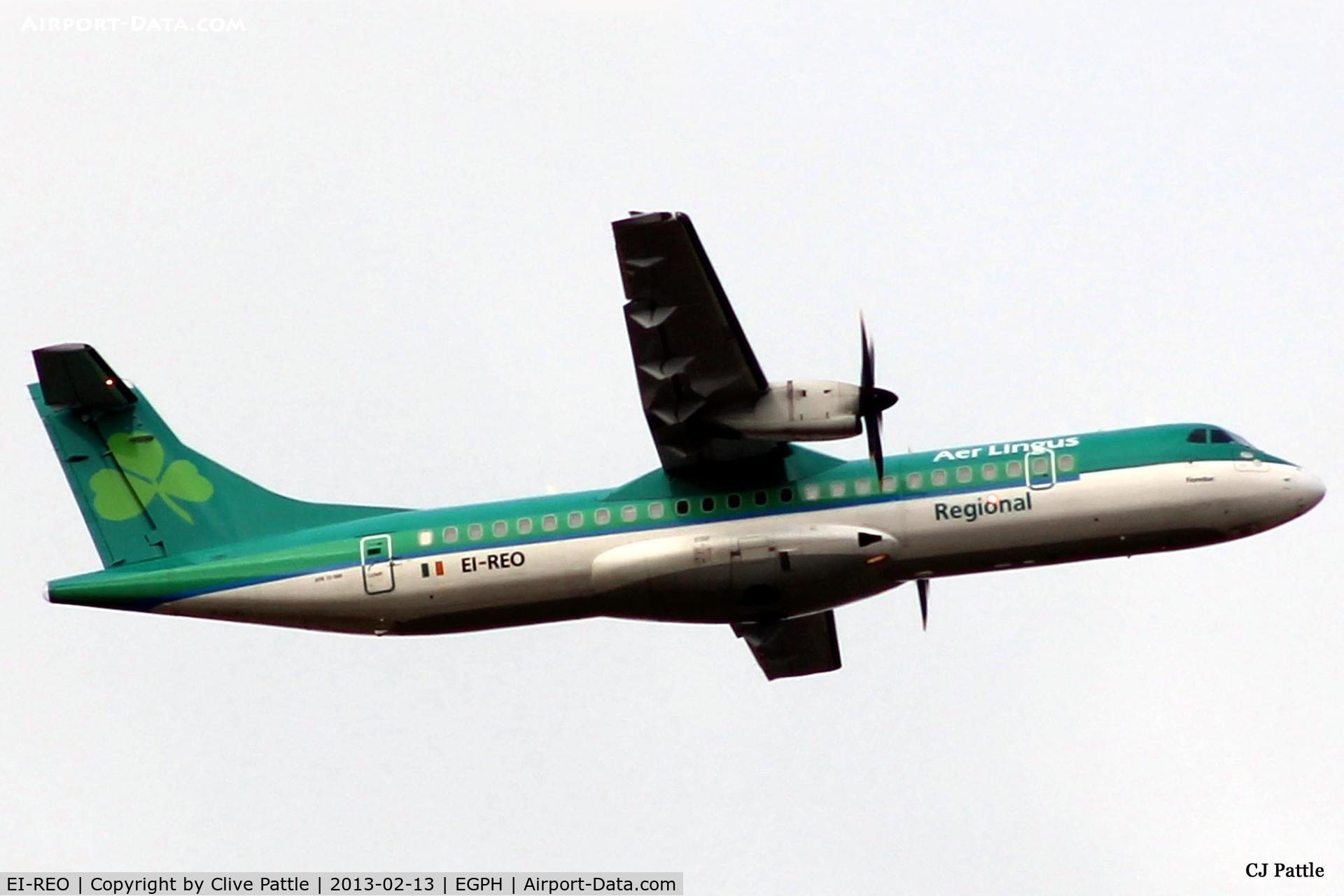 EI-REO, 2008 ATR 72-212A C/N 787, Departure from Edinburgh