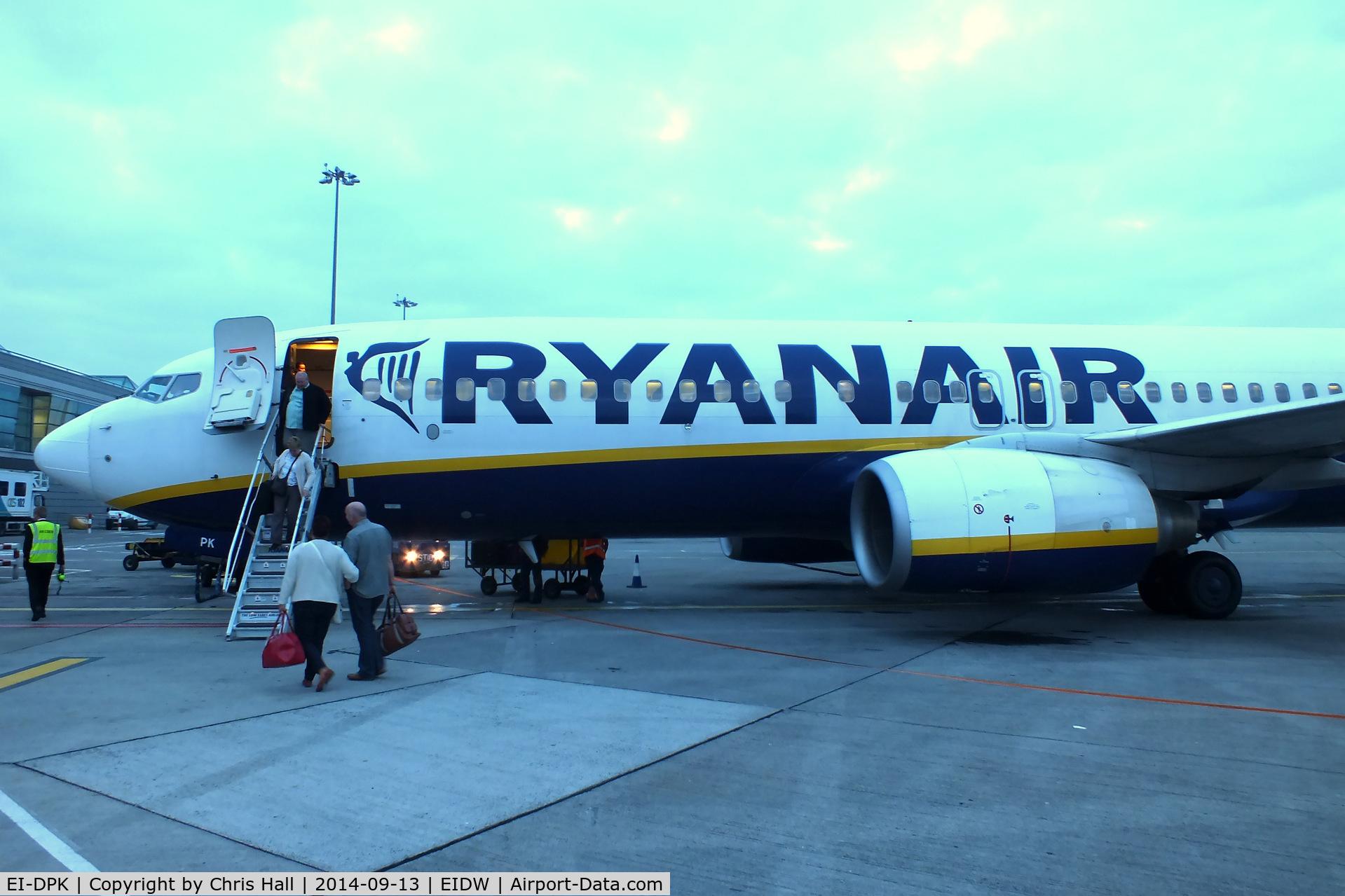 EI-DPK, 2007 Boeing 737-8AS C/N 33610, Ryanair