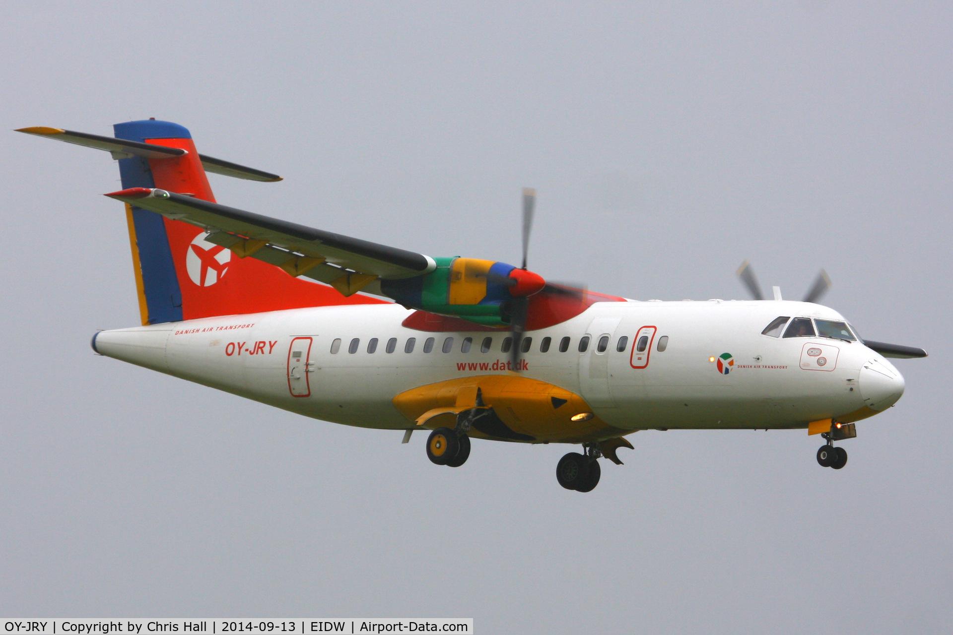 OY-JRY, 1987 ATR 42-320 C/N 063, Danish Air Transport