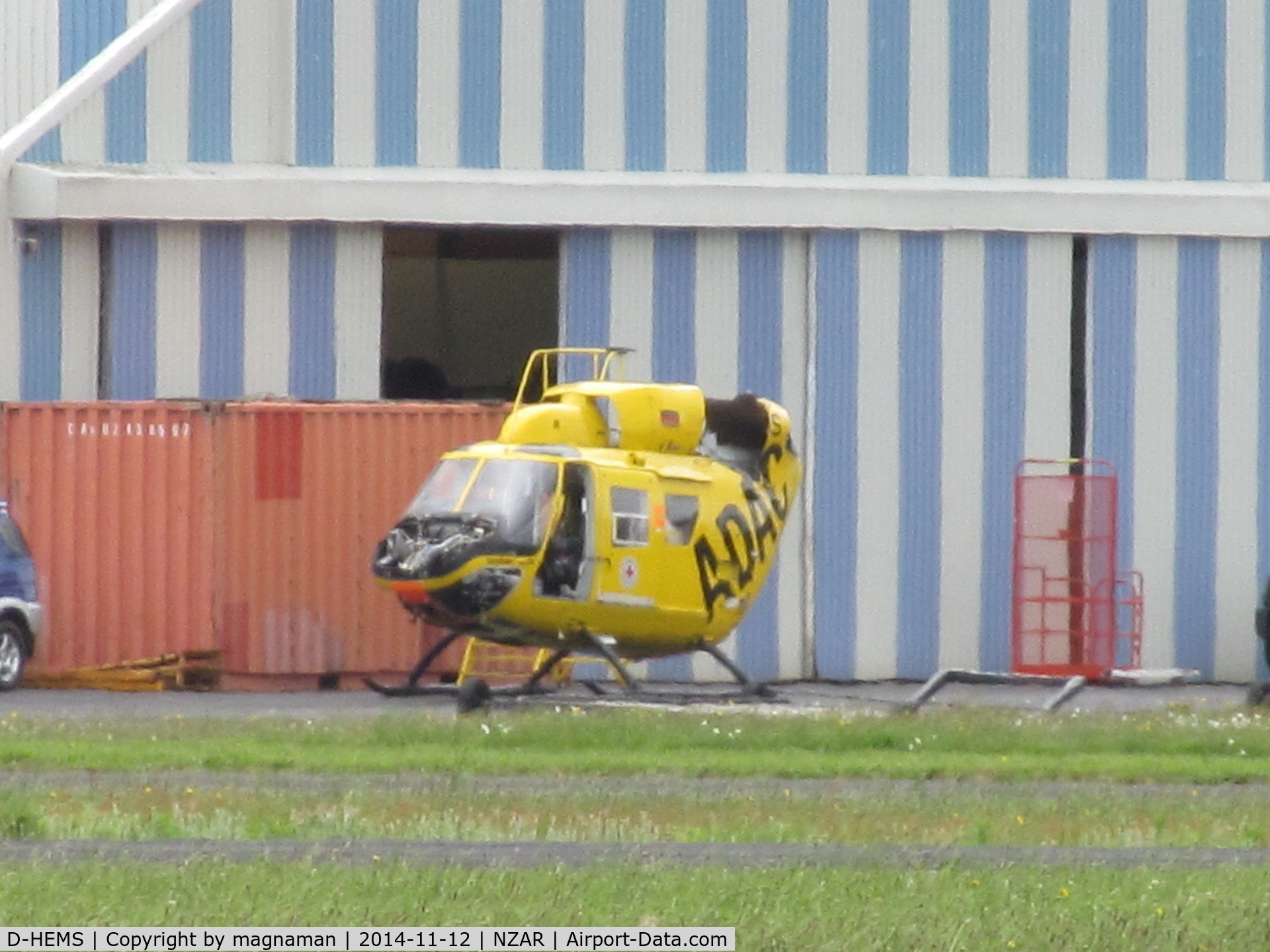 D-HEMS, Eurocopter-Kawasaki BK-117B-2 C/N 7203, Not a lot left now - looks like spares