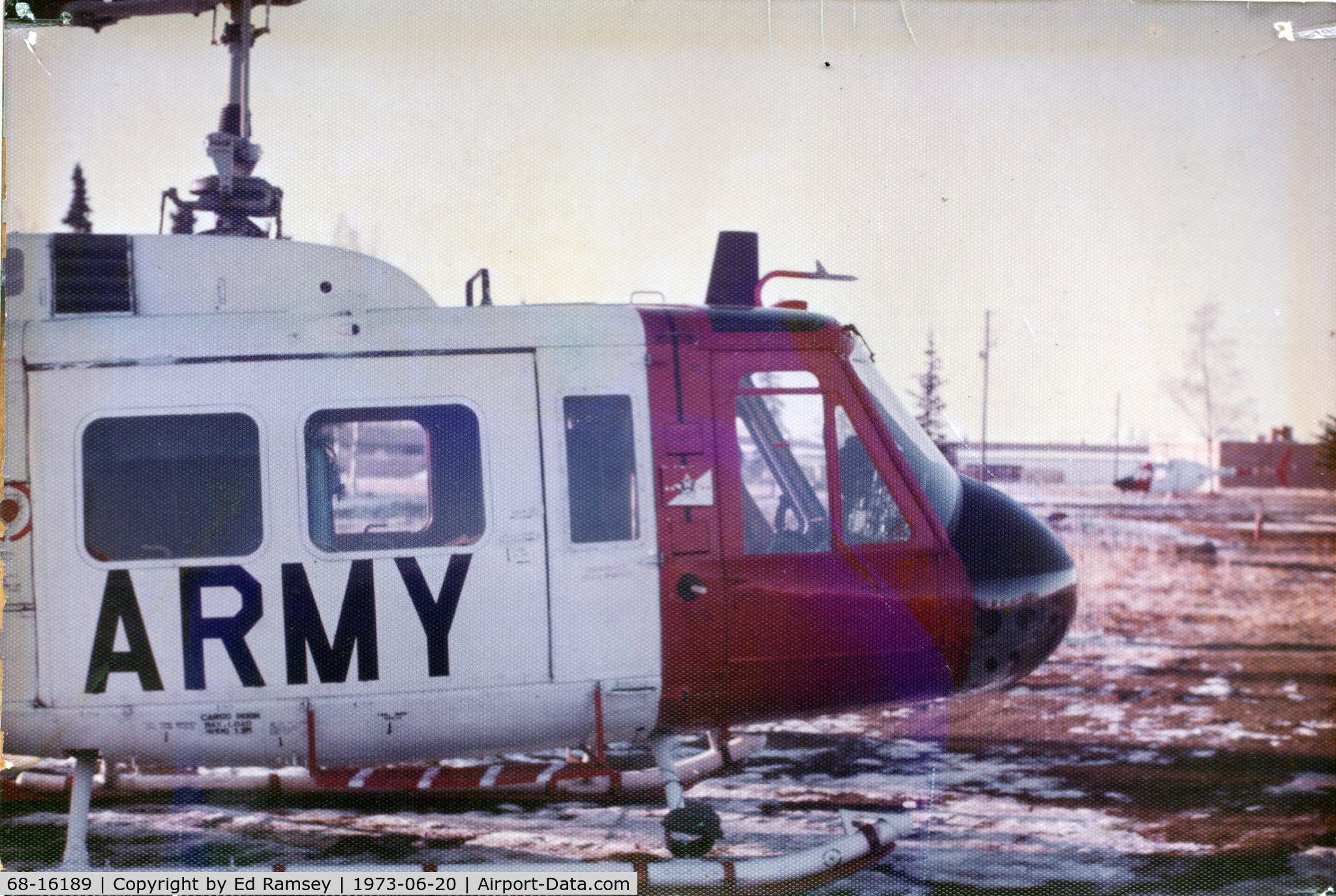 68-16189, 1968 Bell UH-1H Iroquois C/N 10848, 68-16189 was the VIP Acft from 1972-1974 in the 120th Avn BN Fort Richardson, AK while I was there.  I don't know how much longer it was there.