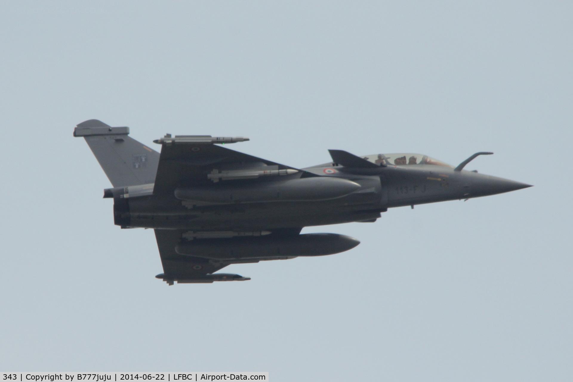 343, Dassault Rafale B C/N 343, over Cazaux