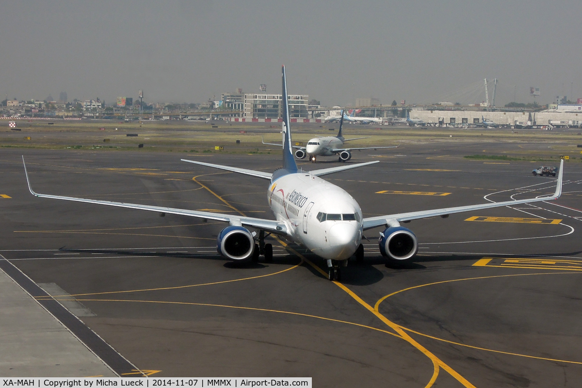 XA-MAH, 2007 Boeing 737-752 C/N 35122, At Mexico City