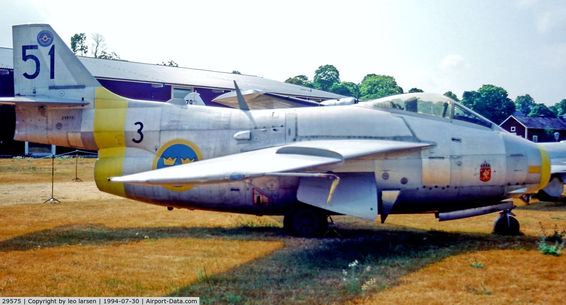 29575, Saab J-29F Tunnan C/N 29575, Malmslätt Museum Sweden 30.7.94