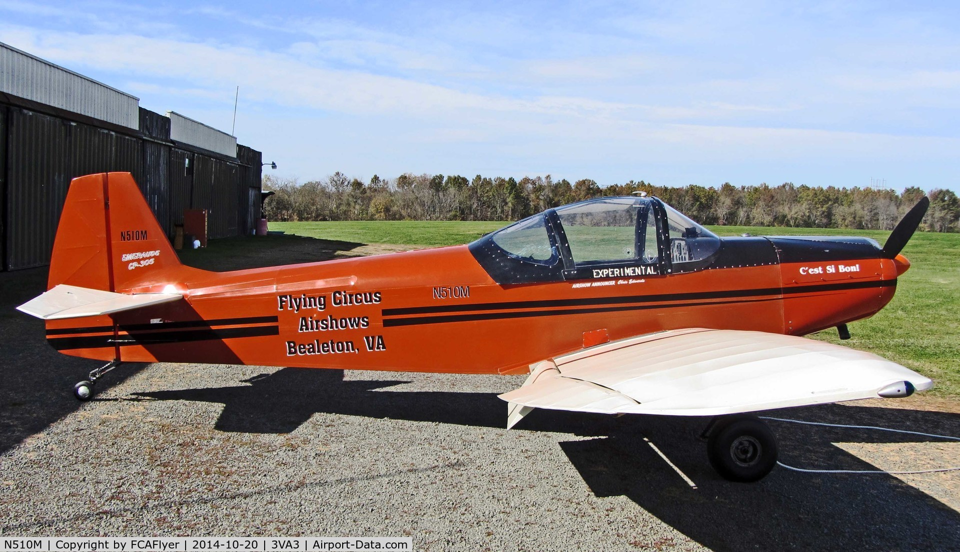 N510M, 1971 Piel CP-305 Emeraude C/N 1171, CP-305, built by Bernard Miller 1971, Lycoming 0-235