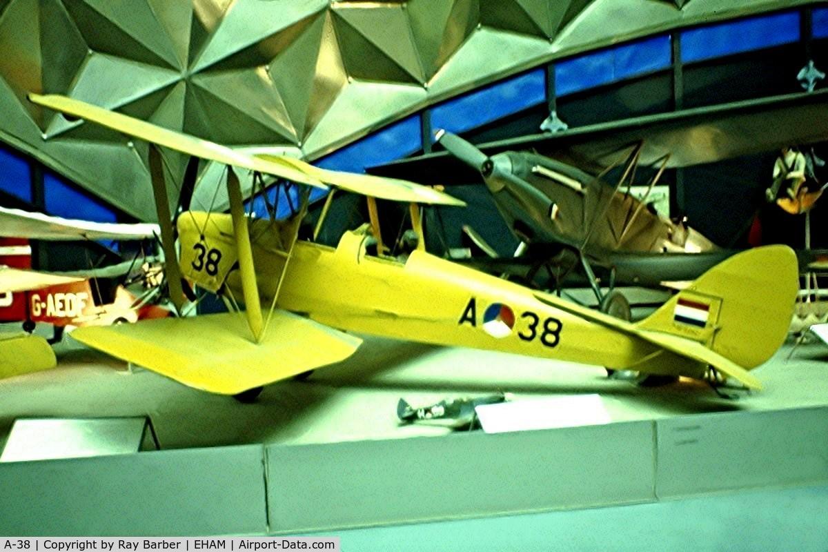A-38, De Havilland DH-82A Tiger Moth II C/N 83101, De Havilland DH.82A Tiger Moth [83101] Amsterdam-Schiphol~PH 10/06/1982. From a slide.