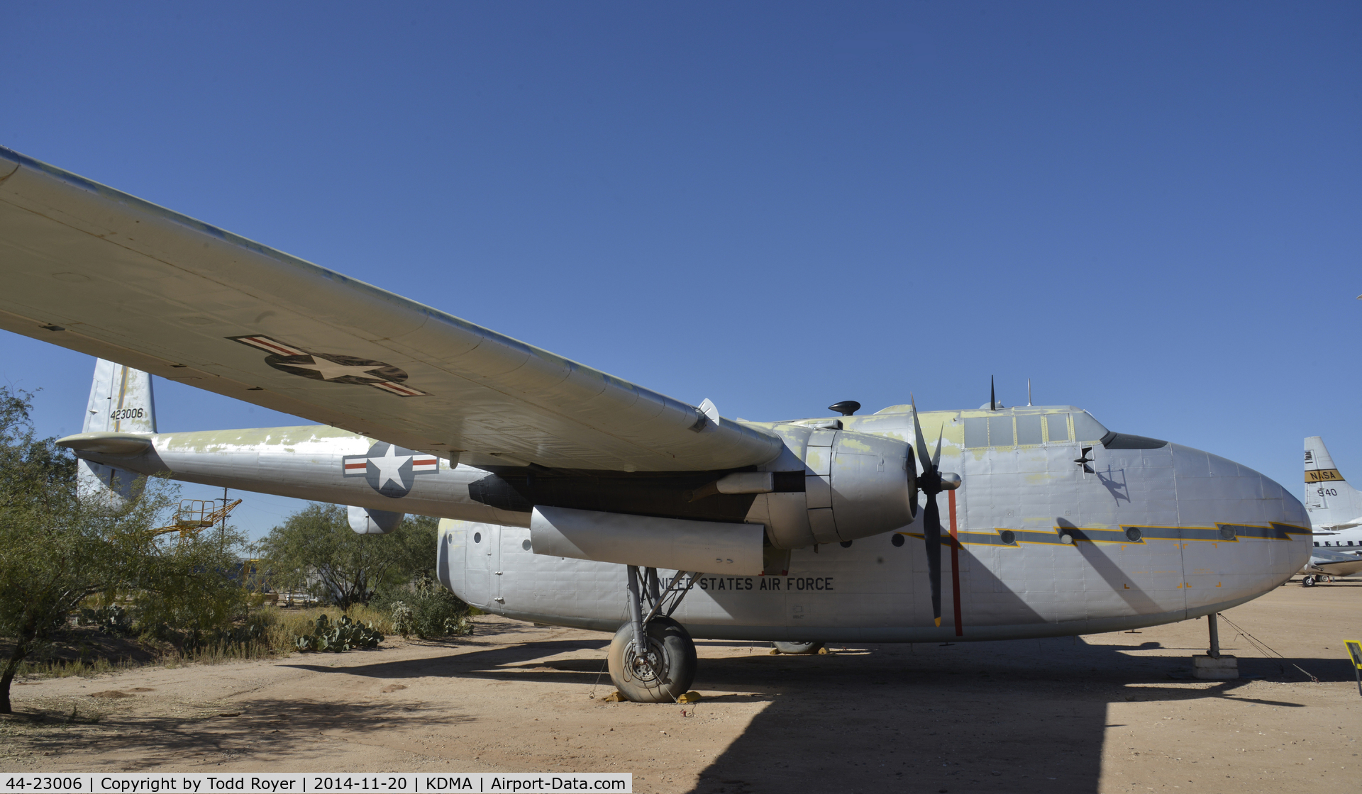 44-23006, 1944 Fairchild C-82A-15-FA Packet C/N 10050, On display at the Pima Air and Space Museum