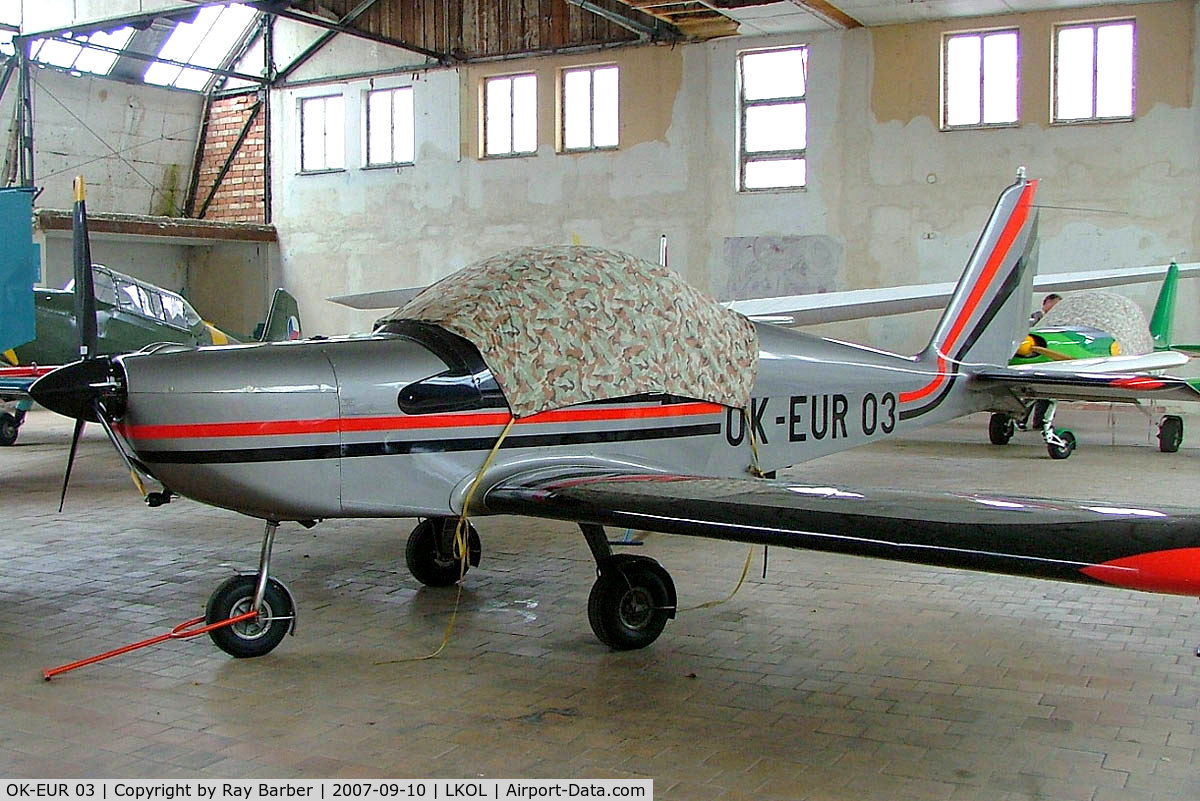 OK-EUR 03, 1999 Evektor EV-97 Eurostar C/N 990504, Evektor EV-97 Eurostar [990504] Olomouc~OK 10/09/2007