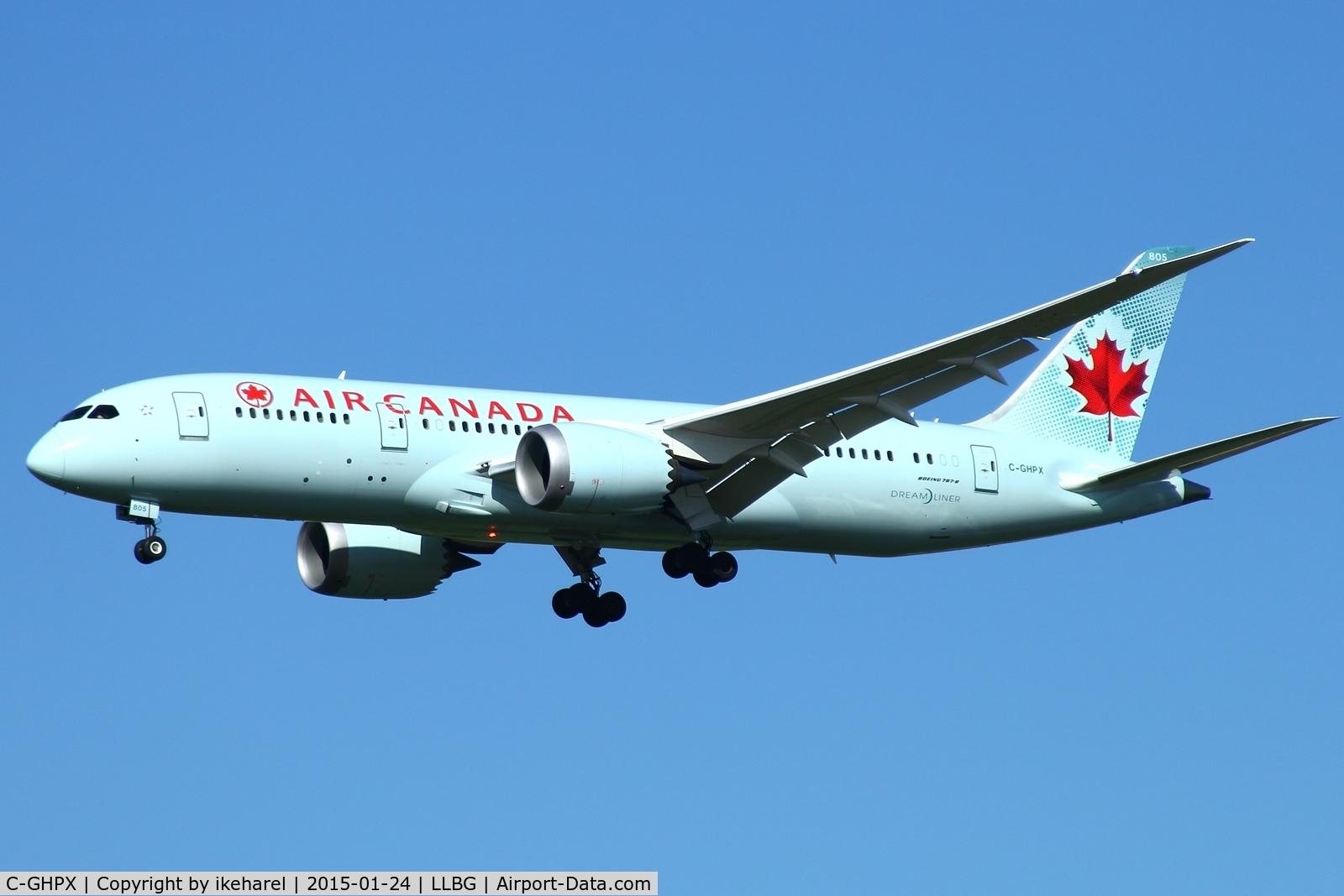 C-GHPX, 2014 Boeing 787-8 Dreamliner C/N 35261, Fly in from Toronto Canada, landing on runway 21.