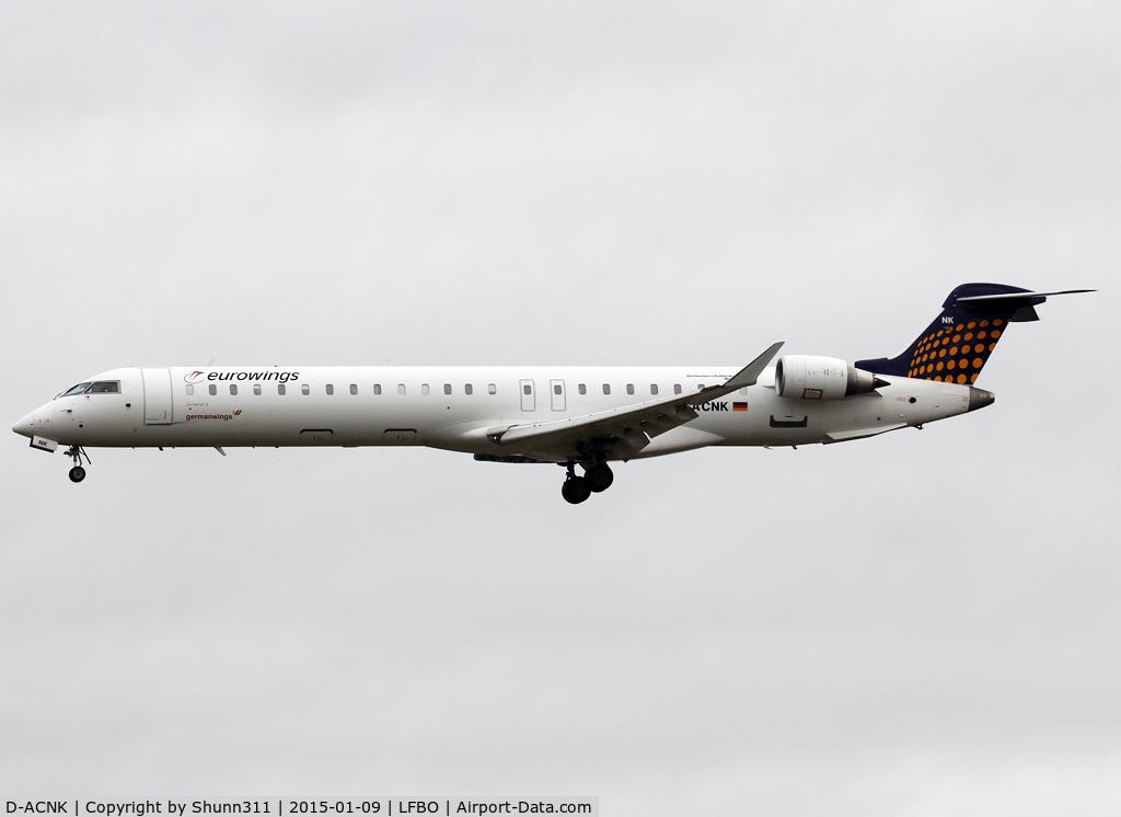 D-ACNK, 2010 Bombardier CRJ-900LR (CL-600-2D24) C/N 15251, Landing rwy 32L