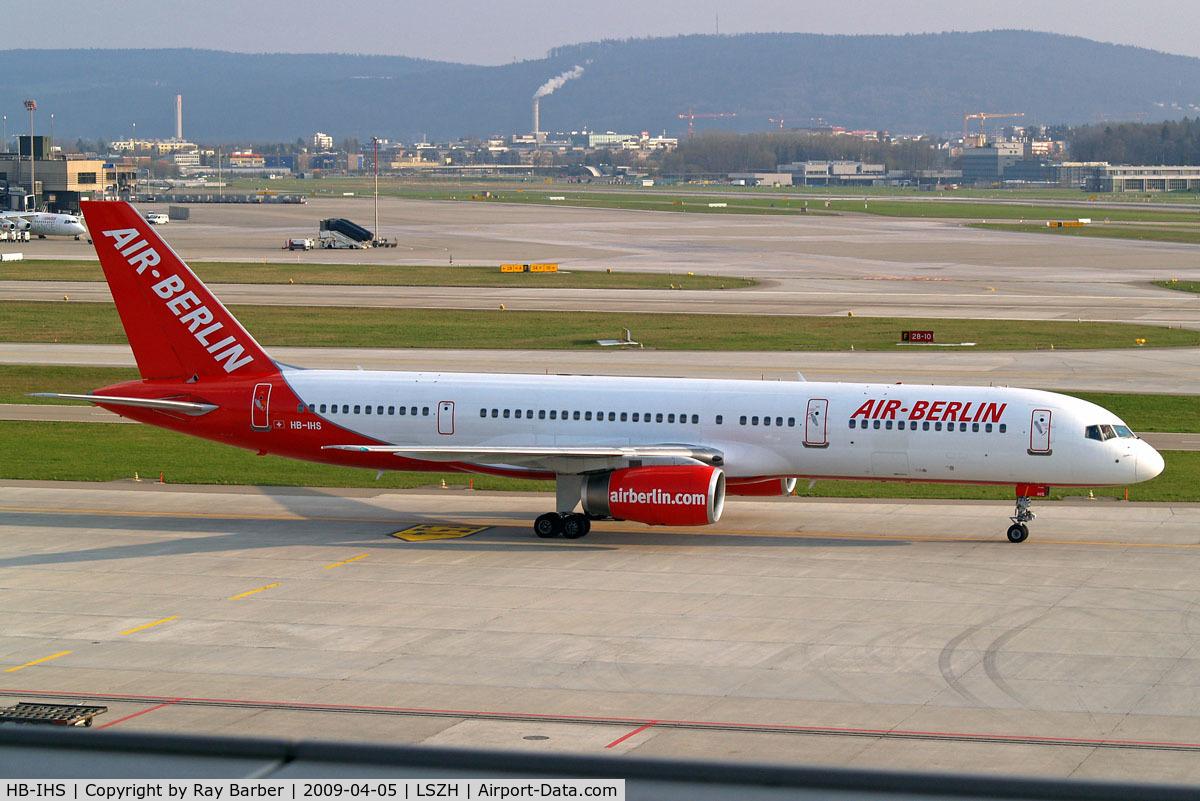HB-IHS, 2000 Boeing 757-2G5 C/N 30394, Boeing 757-2G5 [30394] (Air Berlin) Zurich~HB 05/04/2009