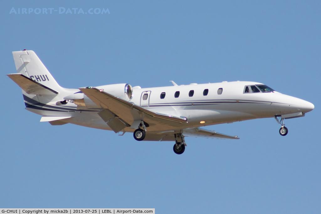 G-CHUI, 2013 Cessna 560XL Citation Excel C/N 560-6139, Landing