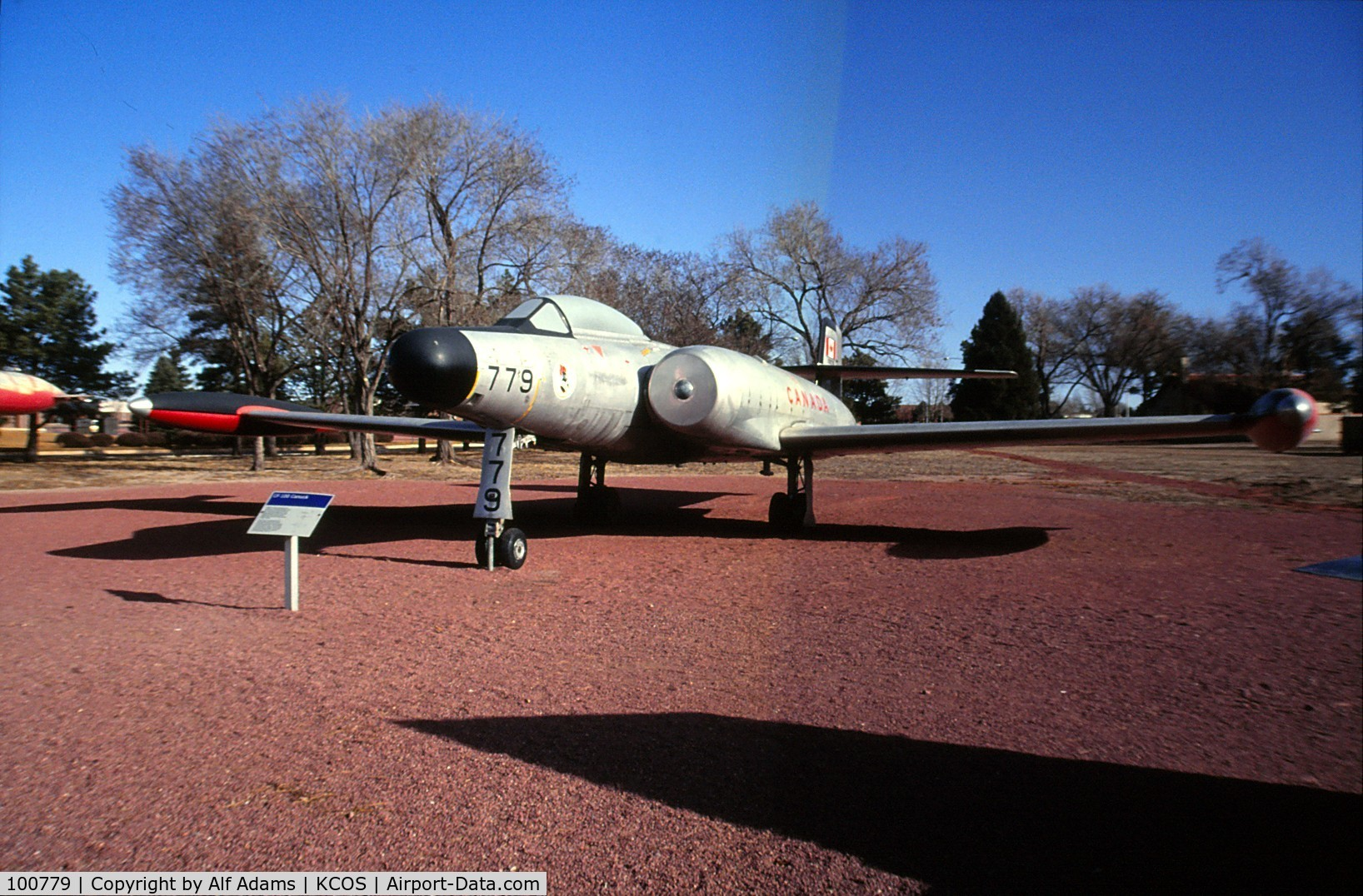 100779, 1970 Avro Canada CF-100 Mk.5 Canuck C/N C-100/5/679, Shown at the museum on Peterson Air Force Base, Colorado Springs, Colorado in 1992.