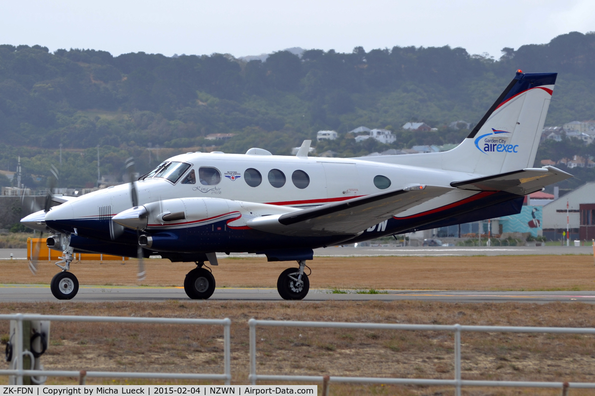 ZK-FDN, 2000 Raytheon C90A King Air C/N LJ-1606, At Wellington