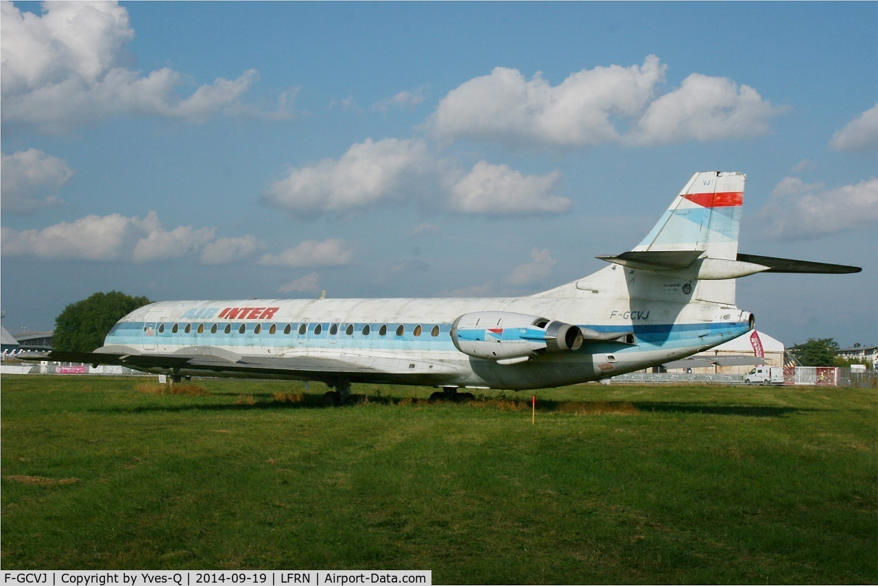 F-GCVJ, 1972 Aerospatiale SE-210 Caravelle 12 C/N 275, Aerospatiale SE-210 Caravelle 12, preserved at Rennes St Jacques airport (LFRN-RNS)
