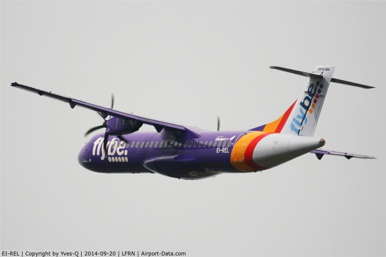 EI-REL, 2007 ATR 72-212A C/N 748, ATR 72-212A, Take off rwy 28, Rennes-St Jacques  airport (LFRN-RNS)