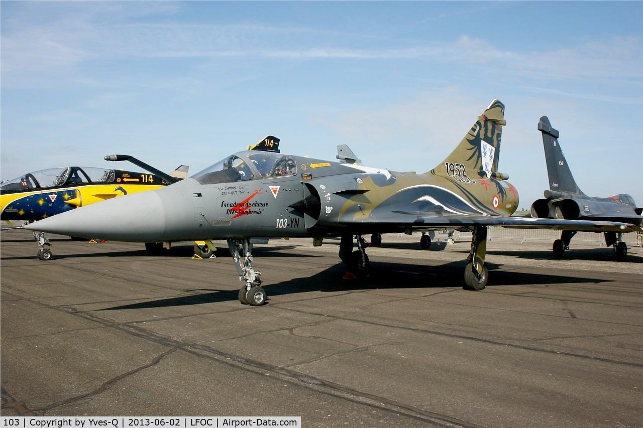 103, Dassault Mirage 2000C C/N 367, Dassault Mirage 2000C, Static display, Châteaudun Air Base 279 (LFOC) Open day 2013
