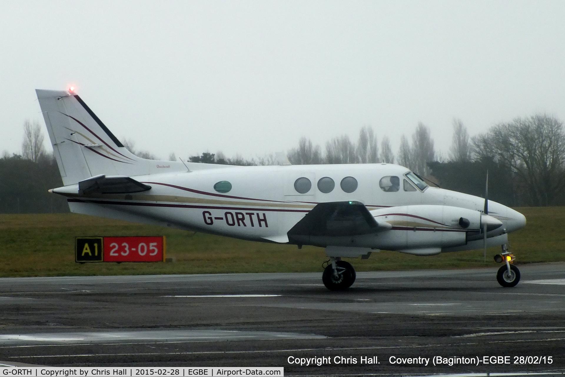 G-ORTH, 1975 Beech E90 King Air C/N LW-136, GorthAir Ltd