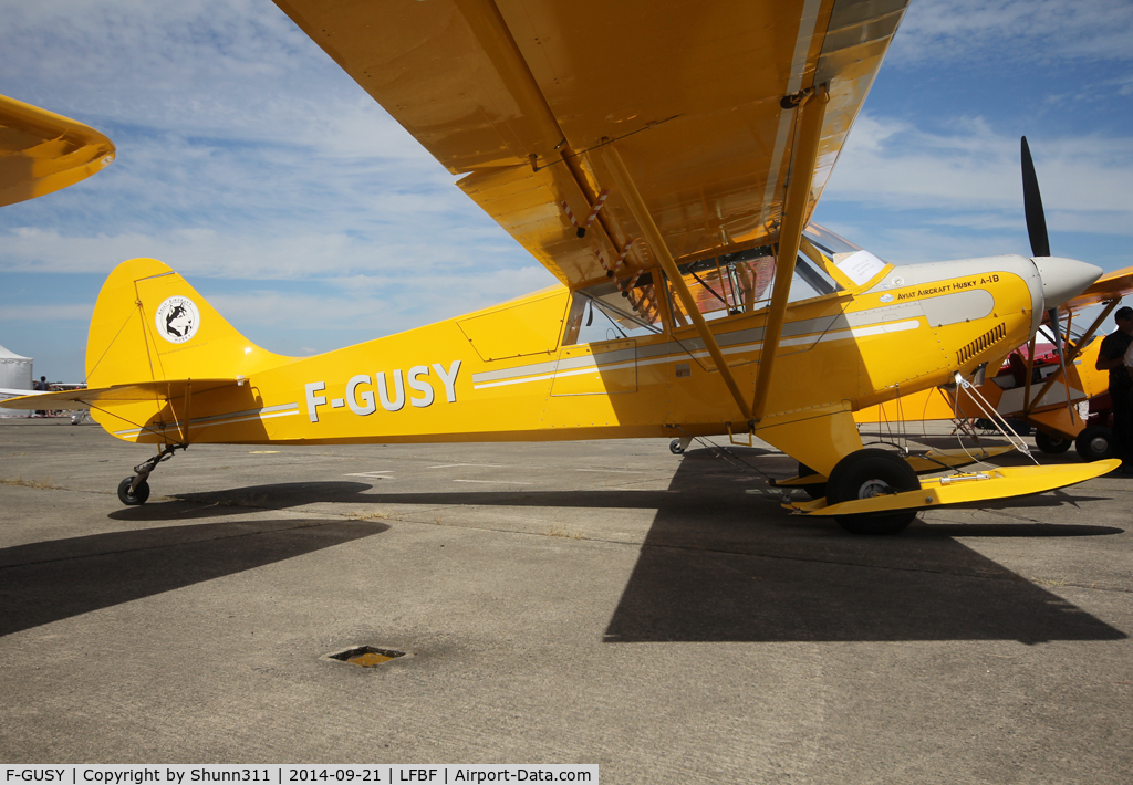 F-GUSY, 2008 Aviat A-1B Husky C/N 2442, Participant of the LFBF Airshow 2014 - static airframe
