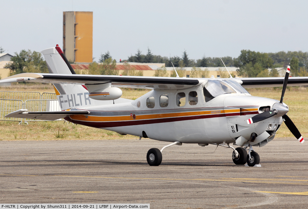 F-HLTR, Cessna P210N Pressurised Centurion C/N P210-0570, Participant of the LFBF Airshow 2014 - Demo aircraft