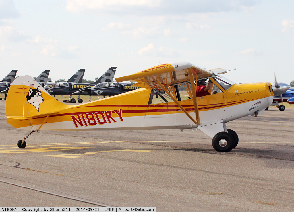 N180KY, 2014 Aviat A-1C-180 Husky C/N 3207, Participant of the LFBF Airshow 2014 - static airframe