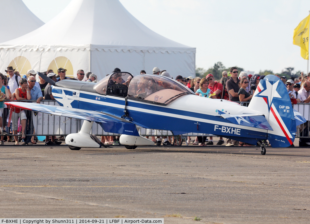 F-BXHE, Mudry CAP-10B C/N 61, Participant of the LFBF Airshow 2014 - Demo aircraft