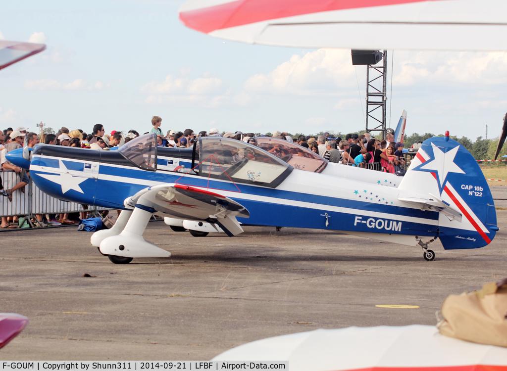F-GOUM, Mudry CAP-10B C/N 122, Participant of the LFBF Airshow 2014 - Demo aircraft
