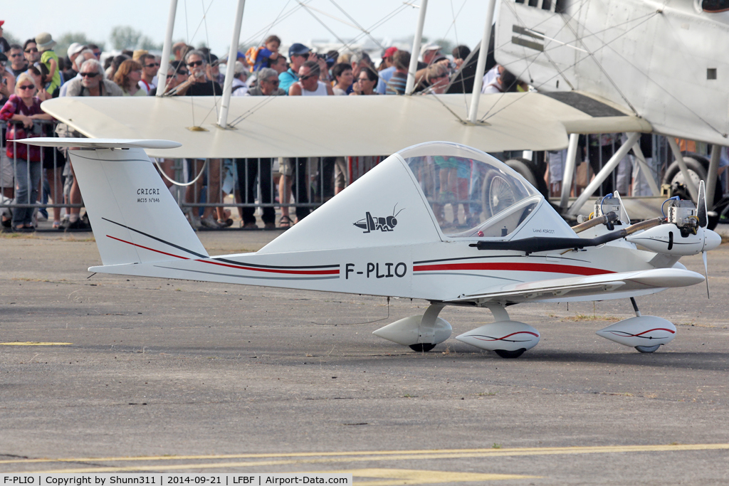 F-PLIO, 2011 Colomban MC-15 Cri-Cri (Cricket) C/N 646, Participant of the LFBF Airshow 2014 - Demo aircraft