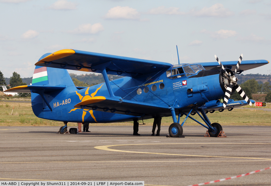 HA-ABD, 1989 Antonov An-2P C/N 1G235-21, Participant of the LFBF Airshow 2014 - Demo aircraft