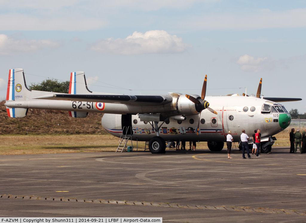 F-AZVM, Nord N-2501F Noratlas C/N 105, Participant of the LFBF Airshow 2014 - Demo aircraft