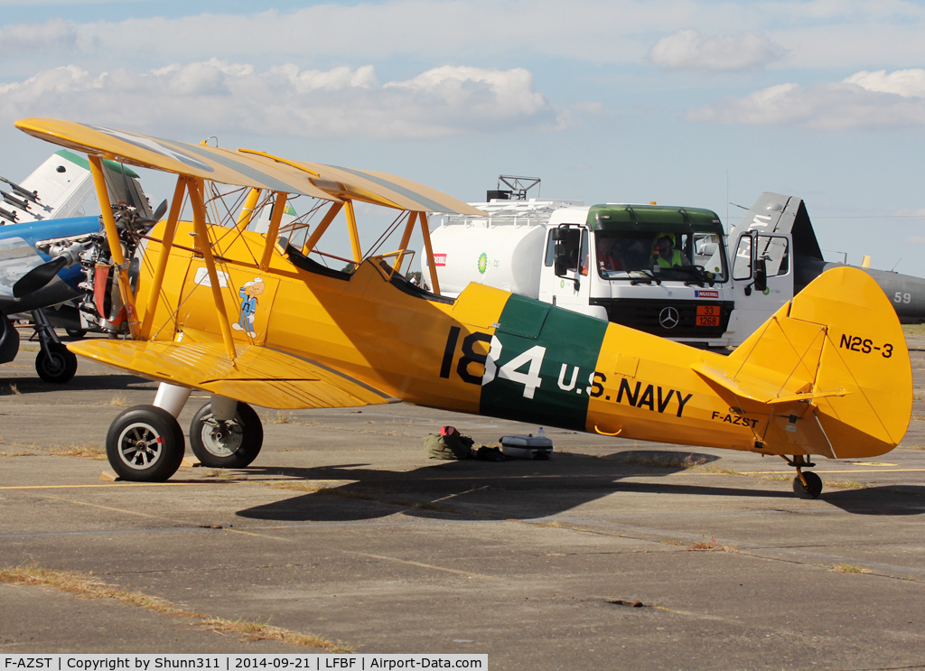 F-AZST, Boeing PT-17 Kaydet (A75N1) C/N A75-2184, Participant of the LFBF Airshow 2014 - Demo aircraft