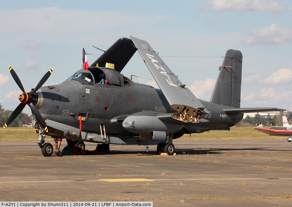 F-AZYI, Breguet Br.1050 Alize C/N 59, Participant of the LFBF Airshow 2014 - Demo aircraft