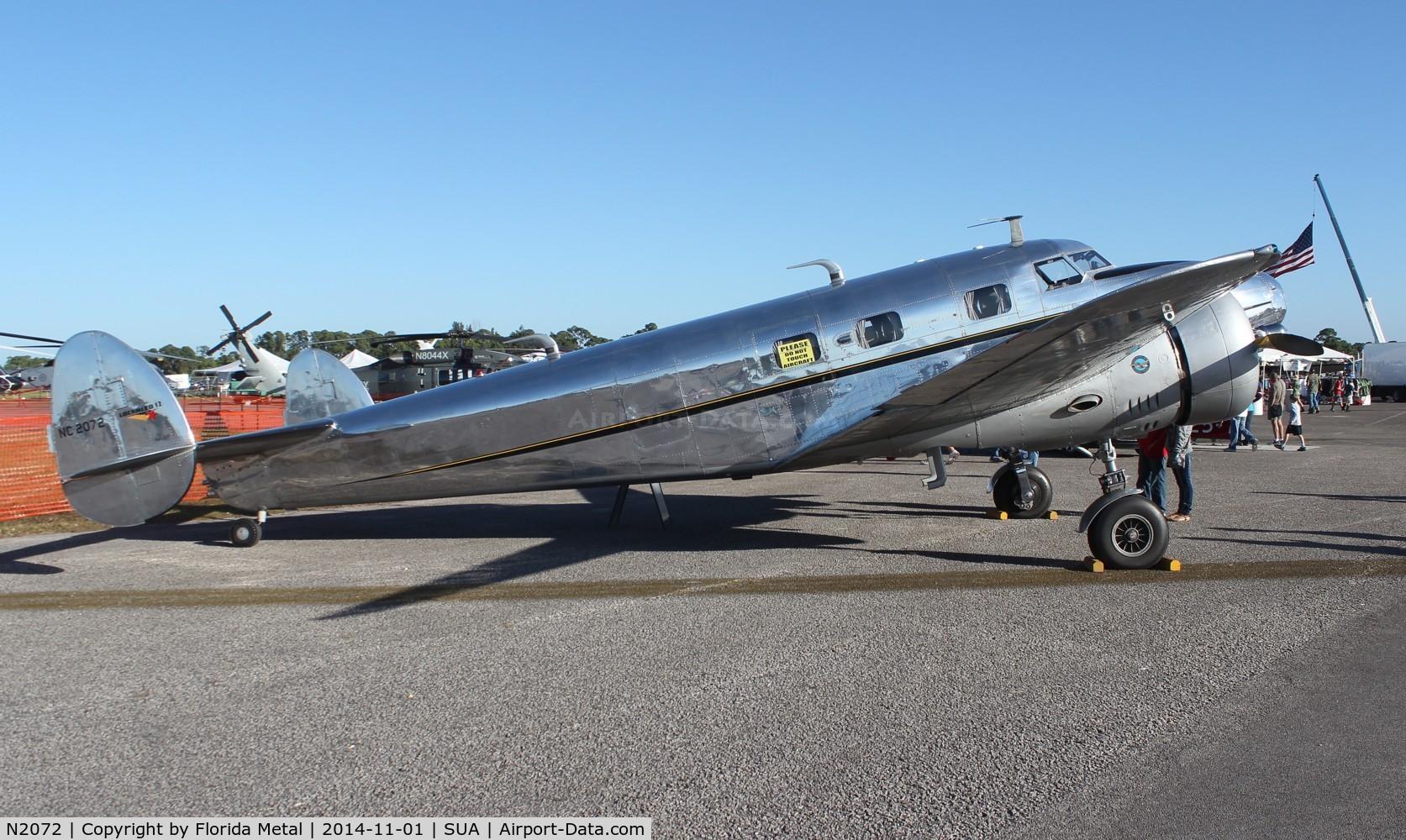 N2072, 1936 Lockheed 12A Electra Junior C/N 1208, Lockheed 12A