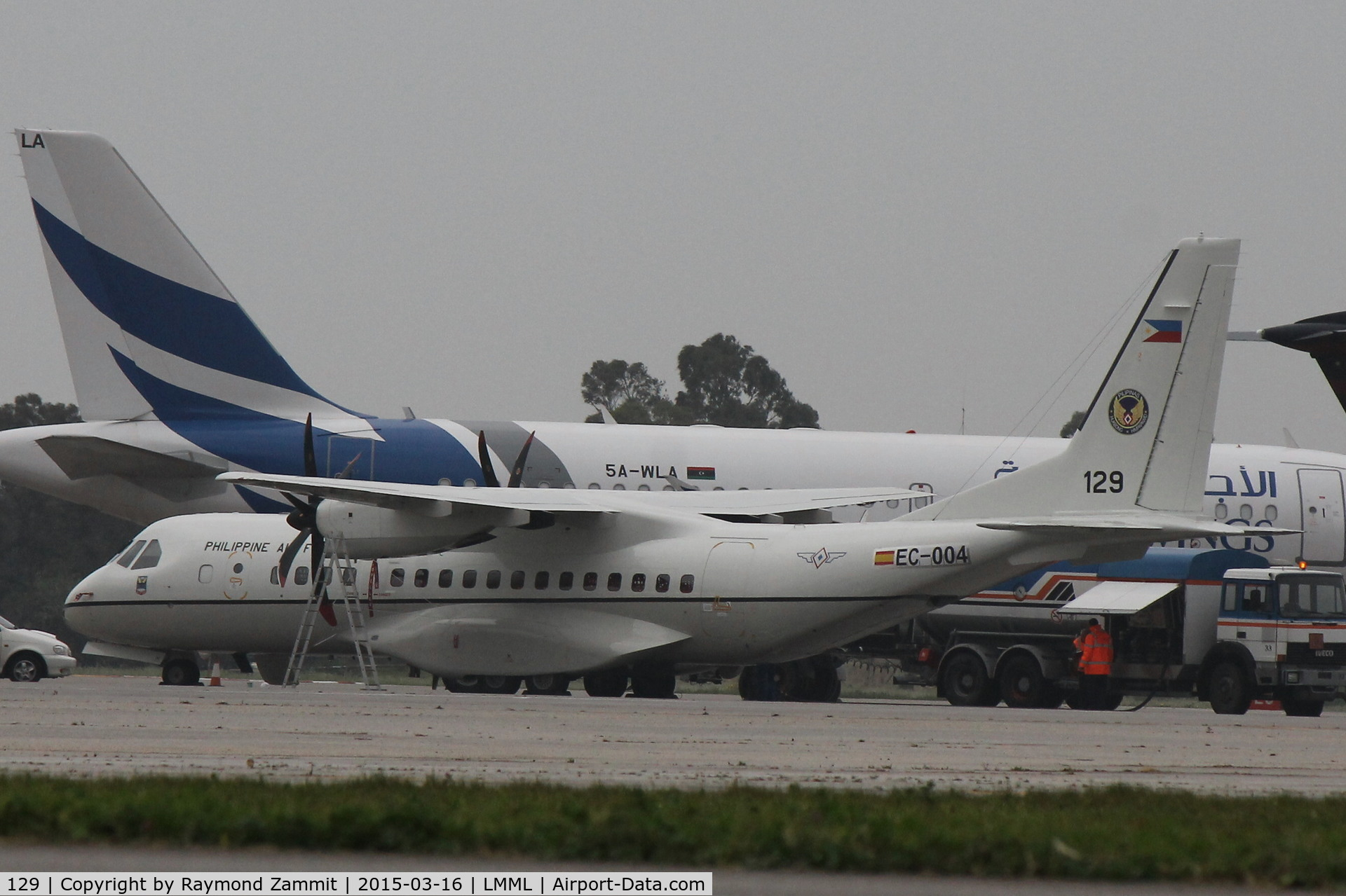 129, Airtech CN-235-200M C/N C129, Casa235 129 Philippines Air Force made a stopover in Malta during delivery.