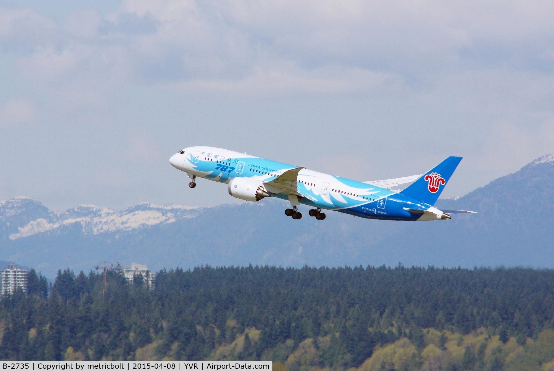 B-2735, 2013 Boeing 787-8 Dreamliner C/N 34928, Deparure to Guangzhou