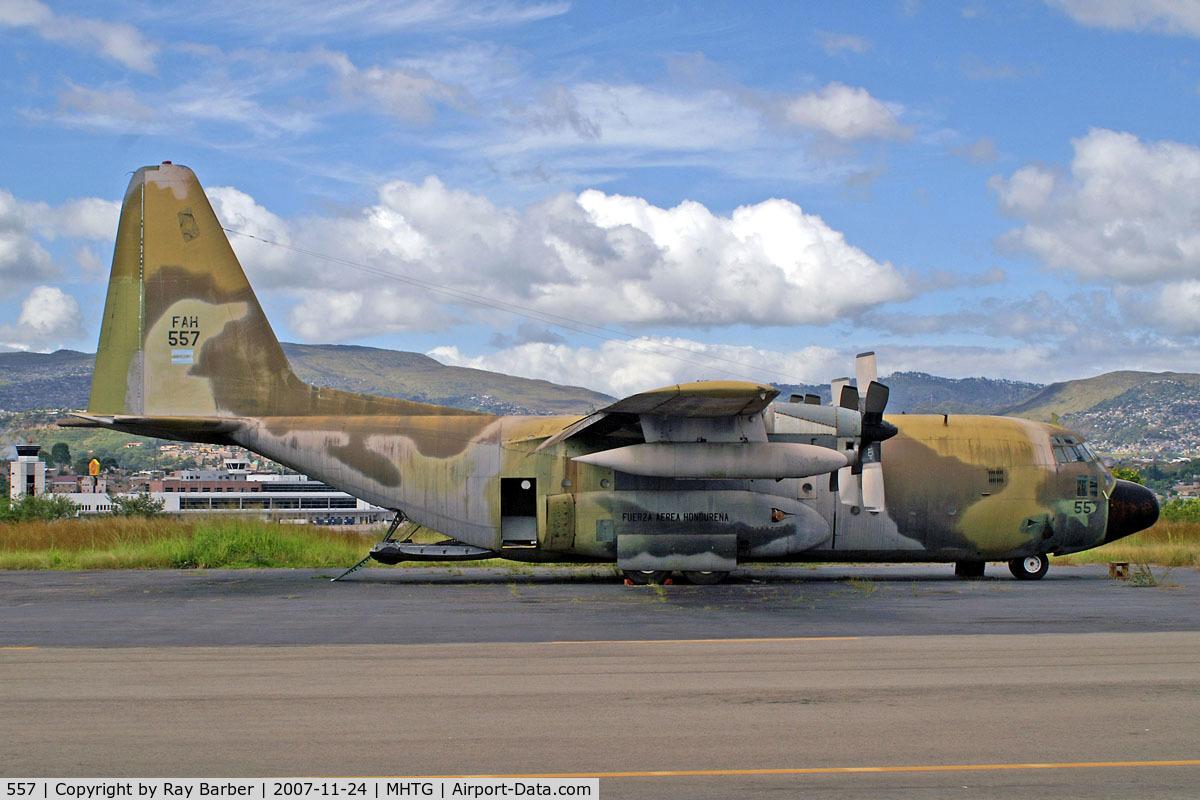 557, 1957 Lockheed C-130A Hercules C/N 182-3030, Lockheed C-130A Hercules [3030] (Honduran Air Force) Tegucigalpa-Toncontin International~HR 24/11/2007