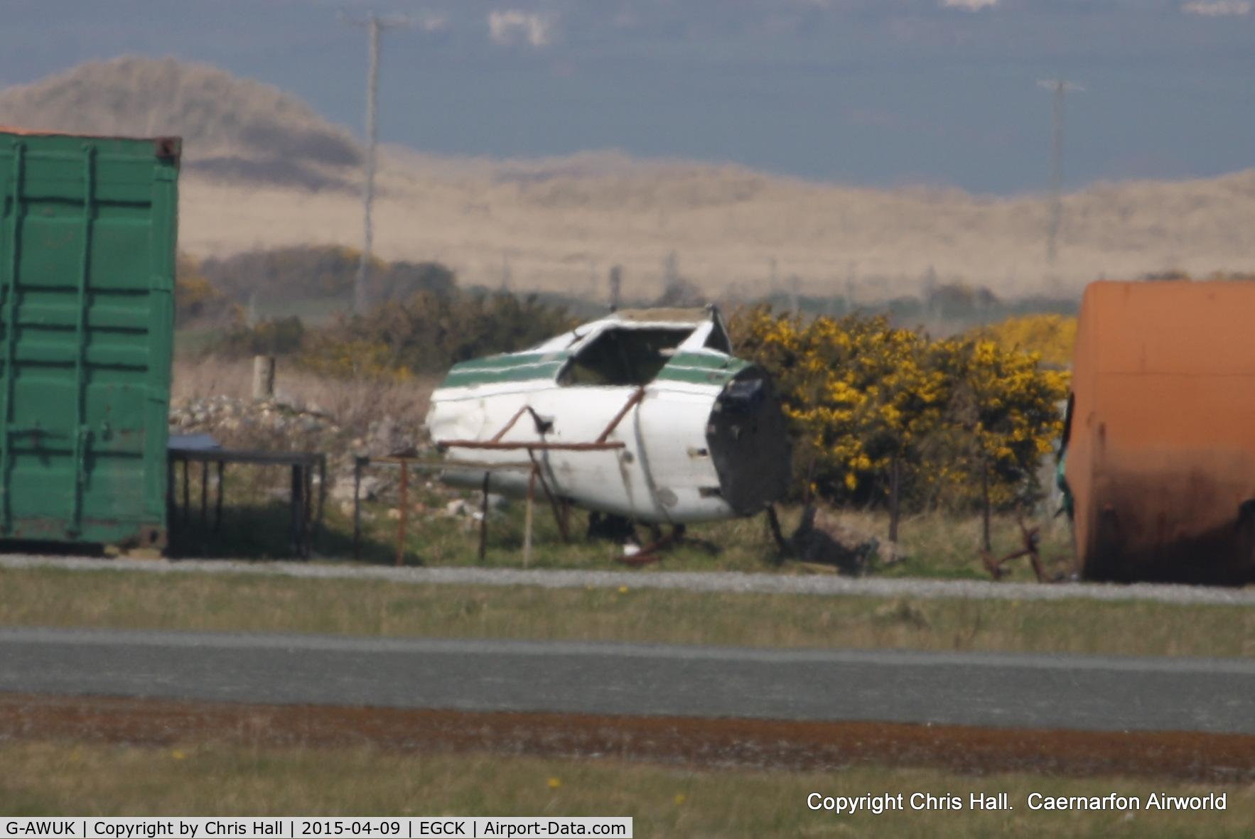 G-AWUK, 1968 Reims F150H C/N 0344, on the fire dump at Caernarfon