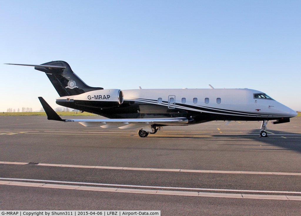 G-MRAP, 2004 Bombardier Challenger 300 (BD-100-1A10) C/N 20023, Parked at the General Aviation area...