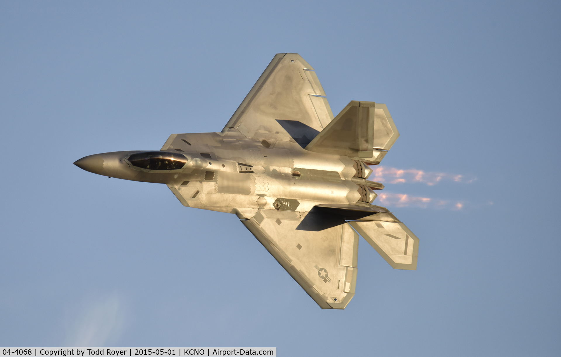 04-4068, 2004 Lockheed Martin F-22A Raptor C/N 4068, Flying at the 2015 Planes of Fame Airshow