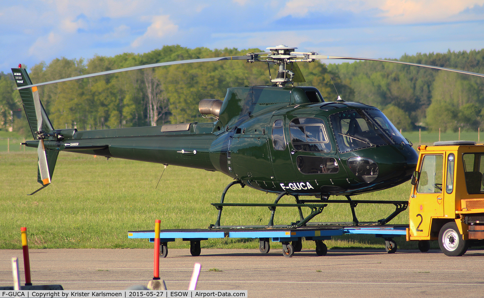 F-GUCA, Eurocopter AS-350B-3 Ecureuil C/N 3558, Imported to Sweden?