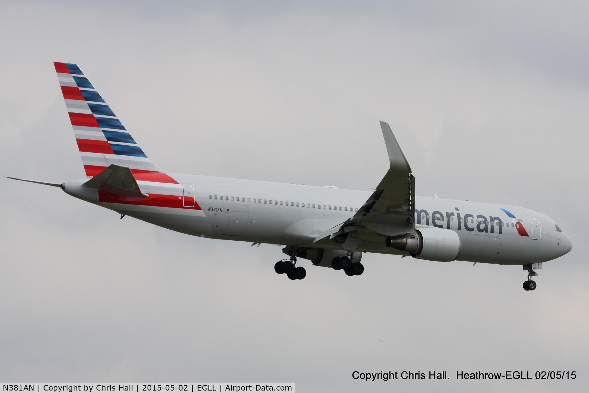 N381AN, 1993 Boeing 767-323 C/N 25450, American Airlines
