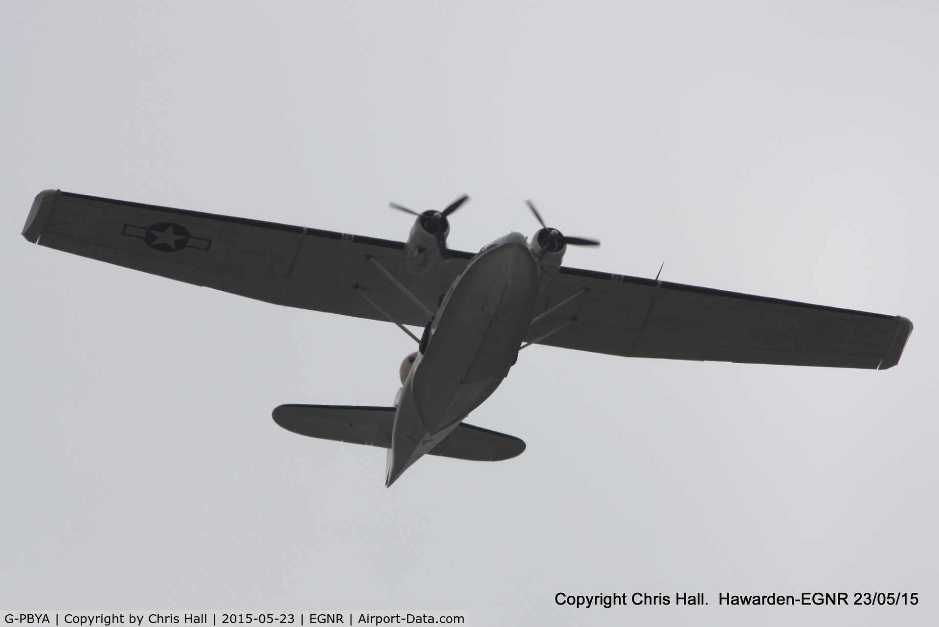 G-PBYA, 1944 Consolidated (Canadian Vickers) PBV-1A Canso A C/N CV-283, overhead Hawarden onroute to the Llandudno Airshow