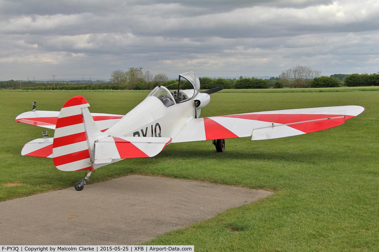 F-PYJQ, 1981 Nicollier HN-433 Menestrel C/N 02, Nicollier HN-433 Menestrel, a visitor from France, at Fishburn Airfield, May 25th 2015.