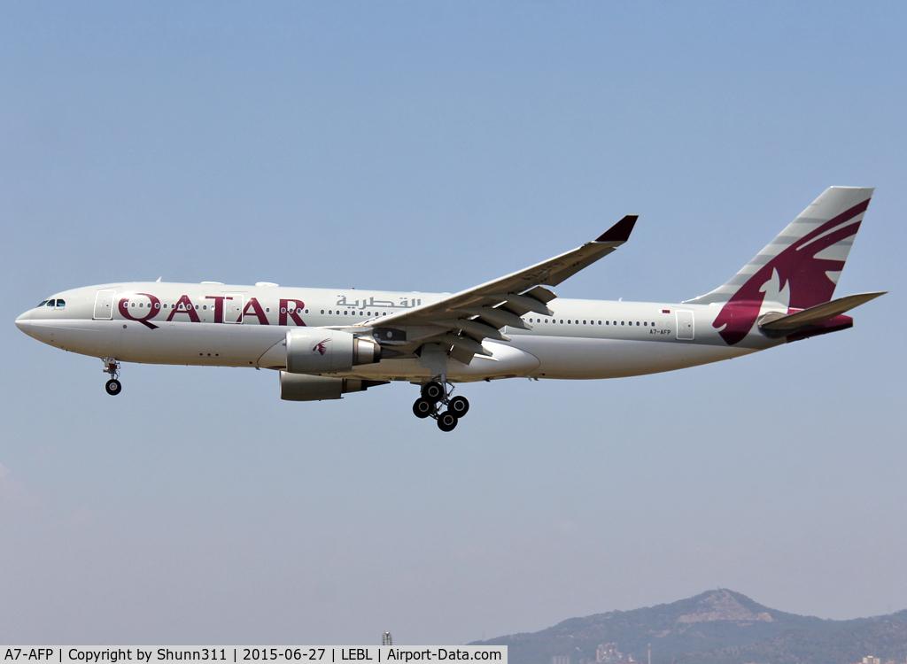 A7-AFP, 2005 Airbus A330-202 C/N 684, Landing rwy 25R