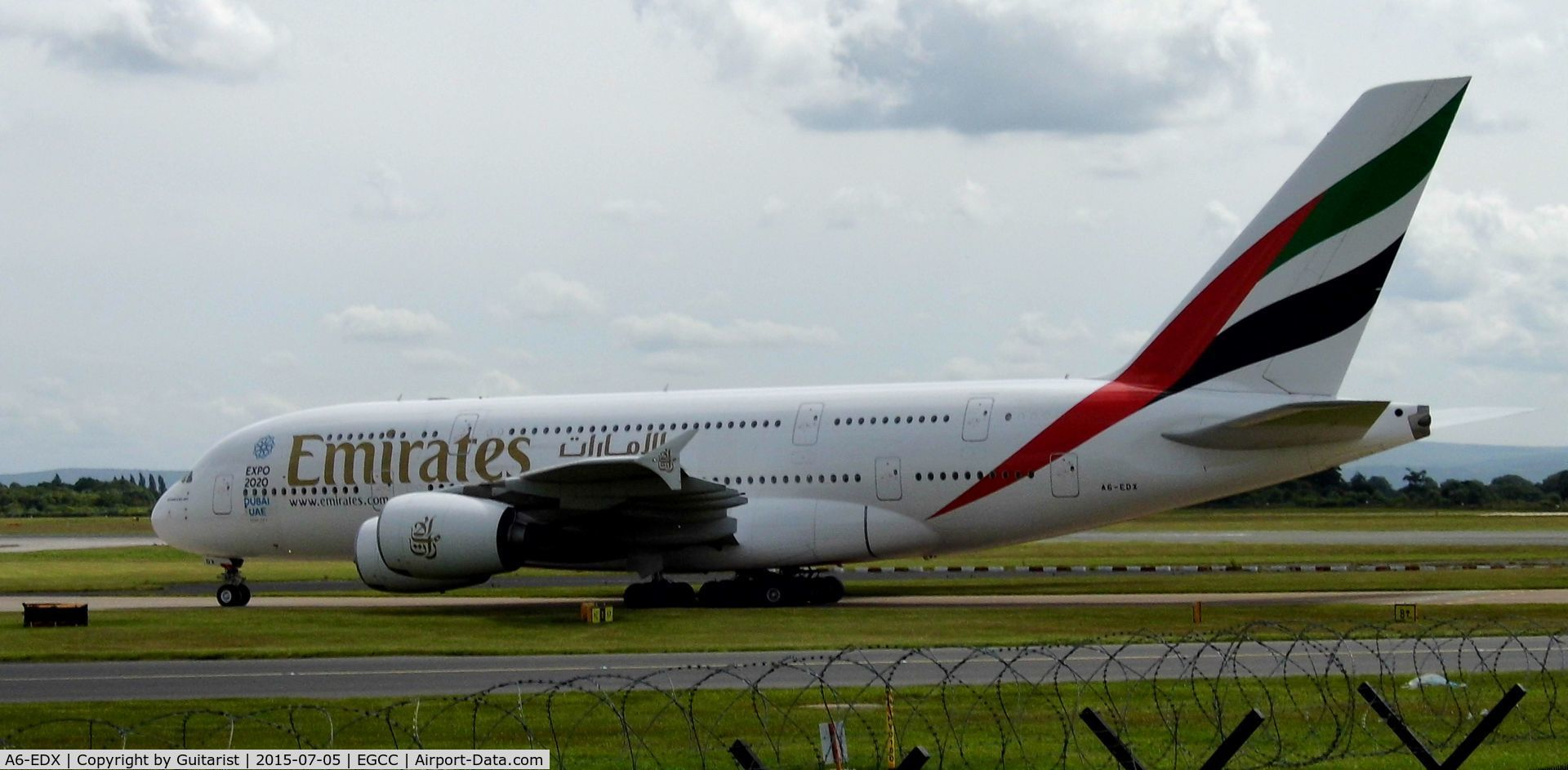 A6-EDX, 2012 Airbus A380-861 C/N 105, At Manchester