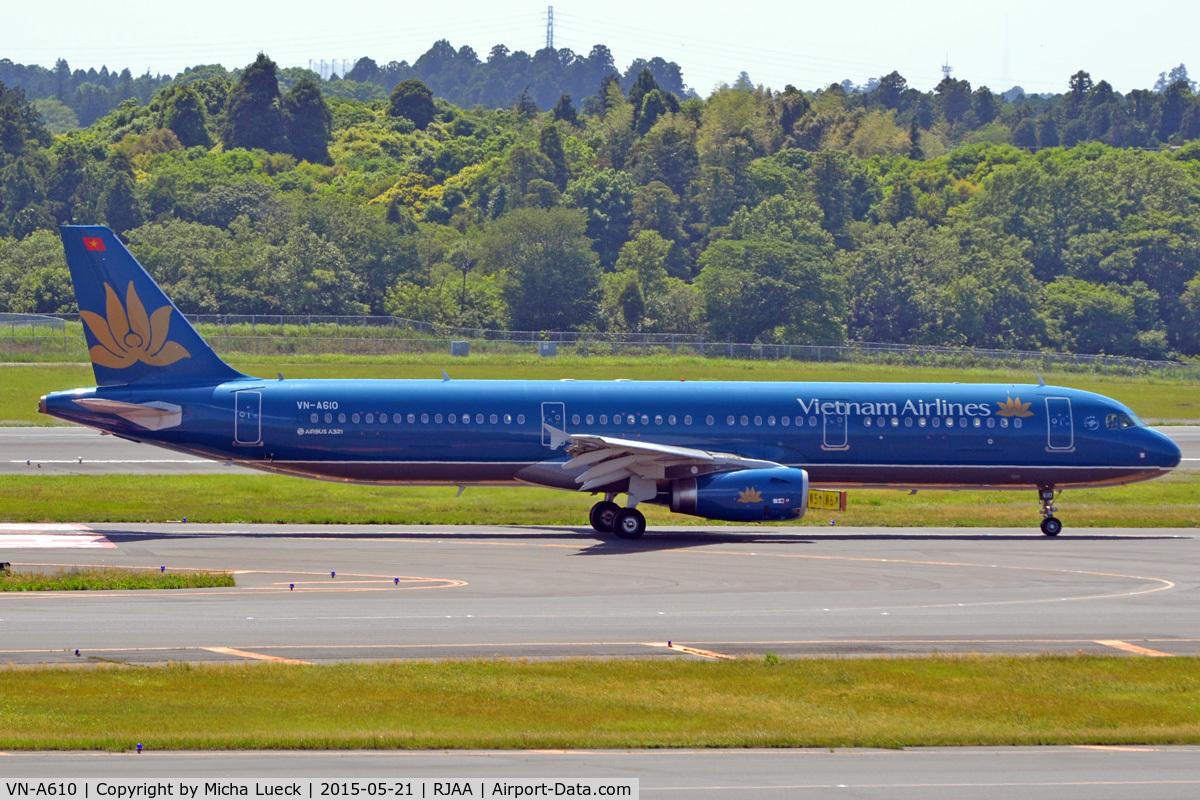 VN-A610, 2014 Airbus A321-231 C/N 5994, At Narita