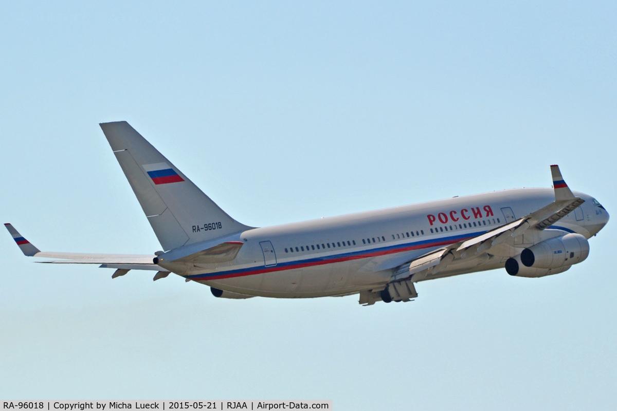RA-96018, 2007 Ilyushin Il-96-300 C/N 74393202018, At Narita